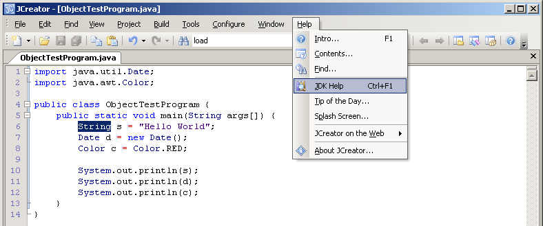 date object in java